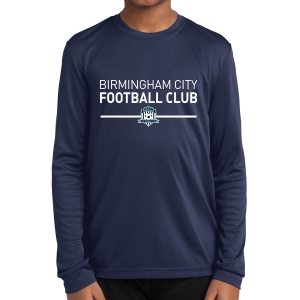 Birmingham City Football Club Youth Long Sleeve Performance Shirt - Navy BCFC-YST350LS
