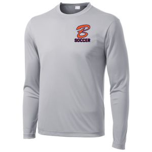 Benjamin School Long Sleeve J.V. Training Jersey - Silver BENJV-ST350LS