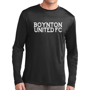 Boynton United FC Long Sleeve Performance Shirt - Black ST350LS-BU