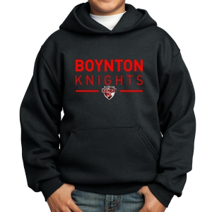 Boynton Knights Youth Hooded Sweatshirt - Black PC90YH