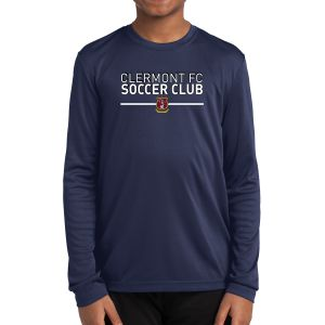 Clermont FC Youth Long Sleeve Performance Shirt - Navy YLST350Nav