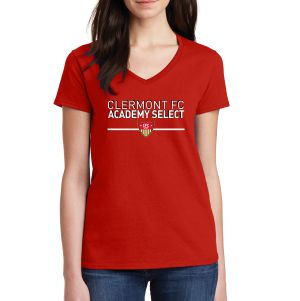 CFC Academy Select Women's V-Neck T-Shirt - Red 5V00LCFC
