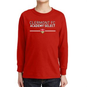 CFC Academy Select Youth Long Sleeve T-Shirt - Red 5400BCFCR