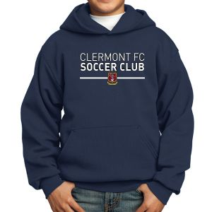 Clermont FC Youth Hooded Sweatshirt - Navy PC90YHNavy