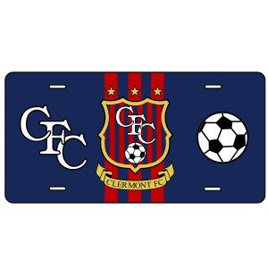 Clermont FC Custom License Plate LicensePlateCFC