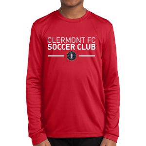Clermont FC Youth Long Sleeve Performance Shirt - Red YLST350CR