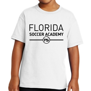 Florida Soccer Academy Youth T-Shirt - White FSA-5000Whi