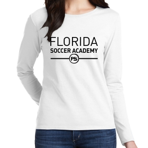 Florida Soccer Academy Women's Long Sleeve T-Shirt - White G5400L-Whi
