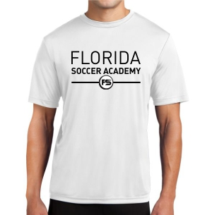Florida Soccer Academy Short Sleeve Performance Shirt - White FSA-ST350Whi