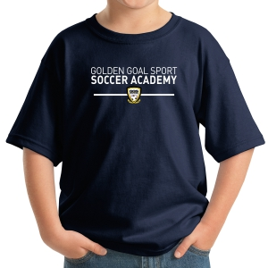 Golden Goal Sports Youth T-Shirt - Navy 5000B-GGS