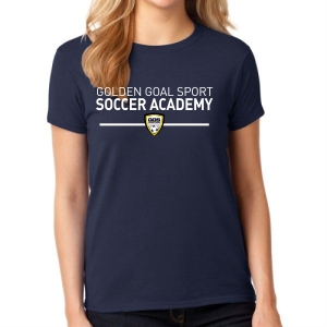 Golden Goal Sports Supporter Women's T-Shirt - Navy 5000L-GGS