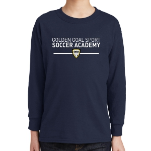 Golden Goal Sports Youth Long Sleeve T-Shirt - Navy 5400B-GGS