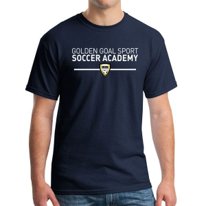 Golden Goal Sports T-Shirt- Navy G500-GGS