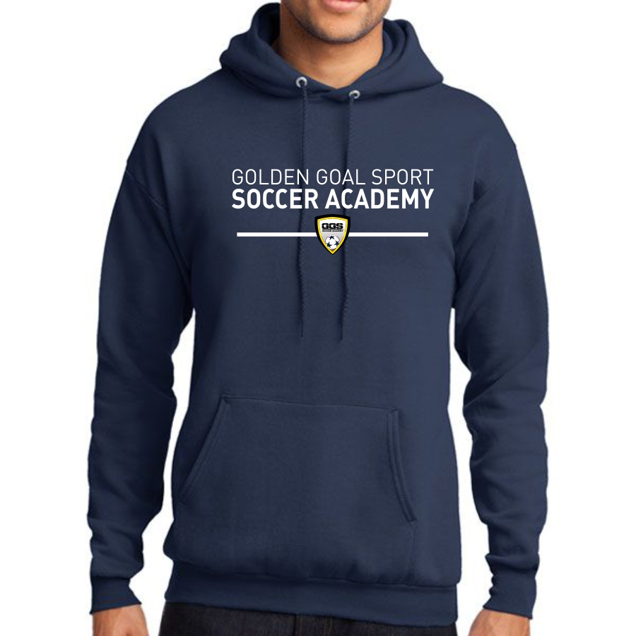 Golden Goal Sports Hooded Sweatshirt - Navy PC78H-GGS