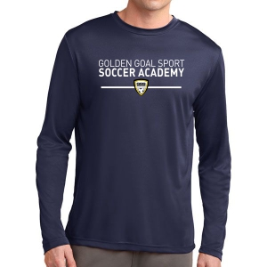 Golden Goal Sports Long Sleeve Performance Shirt - Navy ST350LS-GGS