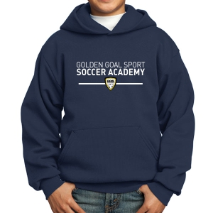 Golden Goal Sports Youth Hooded Sweatshirt - Navy PC90YH-GGS
