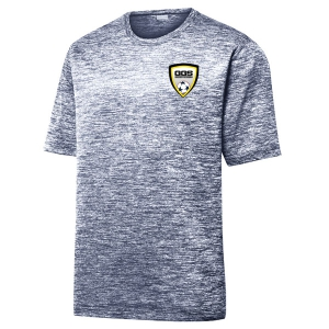 Golden Goal Sport Heather Performance Shirt - True Navy/Electric ST390-GGS