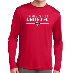 Greater Osceola United Long Sleeve Performance Shirt - Red ST350LSRdGOU