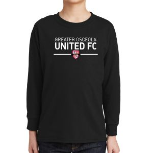 Greater Osceola United Youth Long Sleeve T-Shirt - Black 5400BBlck