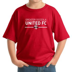 Greater Osceola United Youth T-Shirt - Red 5000BGouR