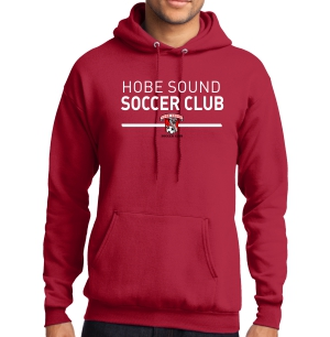 Hobe Sound Soccer Club Hooded Sweatshirt - Red PC78H-HS