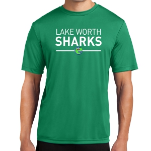 Lake Worth Sharks Performance Shirt - Kelly Green LWS-ST350-KG
