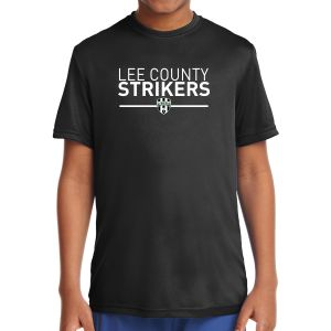 Lee County Strikers Youth Short Sleeve Performance Shirt - Black YST350-LCS
