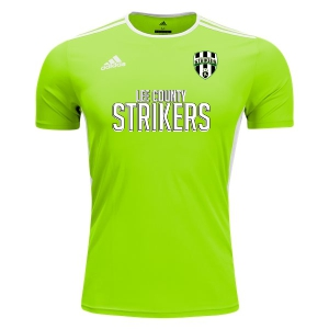 Lee County Strikers adidas Entrada 18 Training Jersey - Solar Green/White LCS-CE9758