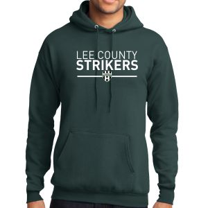 Lee County Strikers Hooded Sweatshirt - Forest Green PC78H-LCSFG