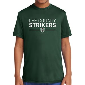 Lee County Strikers Youth Short Sleeve Performance Shirt - Forest Green YST350-LCSFG