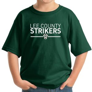 Lee County Strikers Youth T-Shirt - Forest Green 5000B-LCSFG