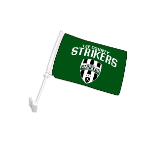 Lee County Strikers Custom Car Flag CarFlag-LCS