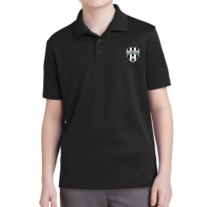 Lee County Strikers Youth Polo Shirt - Black YST640-LCS