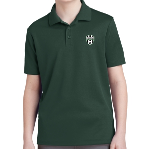 Lee County Strikers Youth Polo Shirt - Forest Green YST640-LCSFG