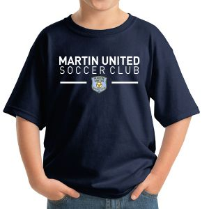 Martin United Youth T-Shirt - Navy 5000B-MU