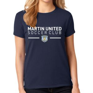 Martin United Women's T-Shirt - Navy G5000L-MU