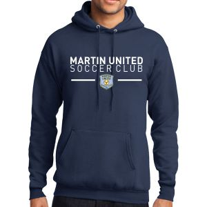 Martin United Hooded Sweatshirt - Navy PC78H-MU