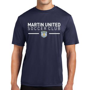 Martin United Short Sleeve Performance Shirt - Navy ST350-MU