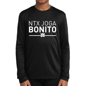 NXT Joga Bonito Youth Performance Long Sleeve Shirt - Black NXT-YST350LS