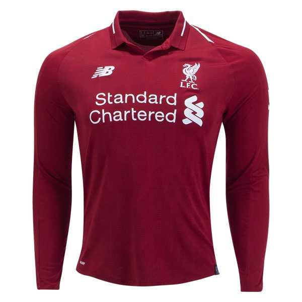 New Balance Liverpool Long Sleeve Home Jersey 2018-2019 - MT830009 -  AuthenticSoccer.com e4b7bb4ad