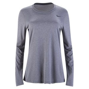 Nike Women's Legend Training Long Sleeve Jersey - Carbon Heather/Black 453182-091