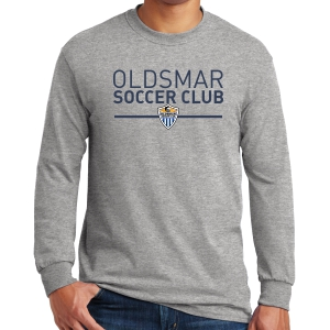 Oldsmar Soccer Club Long Sleeve T-Shirt - Sports Grey G5400-OSCG