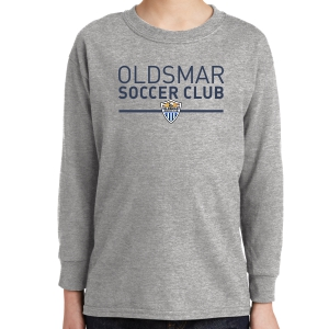 Oldsmar Youth Long Sleeve T-Shirt - Sports Grey 5400B-OSCSG