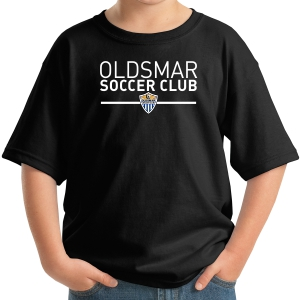 Oldsmar Soccer Club Youth T-Shirt - Black 5000B-OSCB