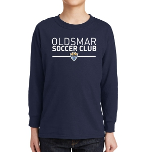 Oldsmar Youth Long Sleeve T-Shirt - Navy 5400B-OSC