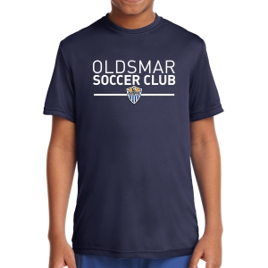 Oldsmar Soccer Club Youth Short Sleeve Performance Shirt - Navy YST350-OSC