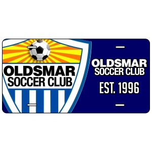 Oldsmar Soccer Club Custom License Plate LCPLT-OSC