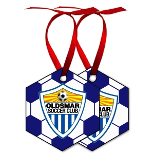Oldsmar Soccer Club Custom Holiday Ornament ORNM-OSC
