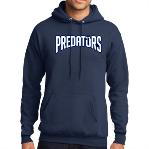 PBG Predators Hooded Sweatshirt - Navy PC78H-PBG