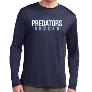 PBG Predators Long Sleeve Performance Shirt - Navy ST350LS-PBG
